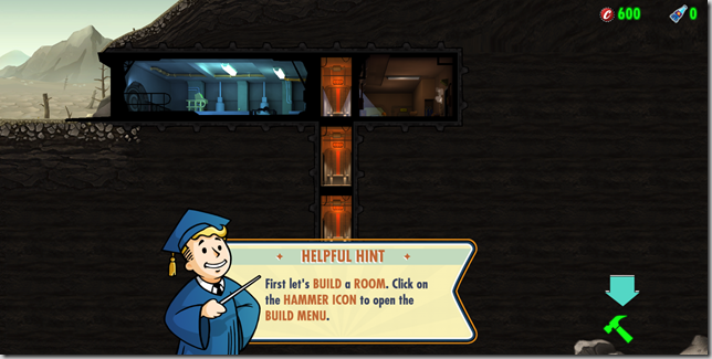 Fallout Shelter build a room